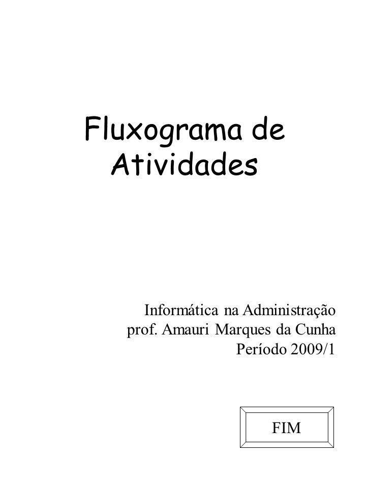Fluxograma de Atividades