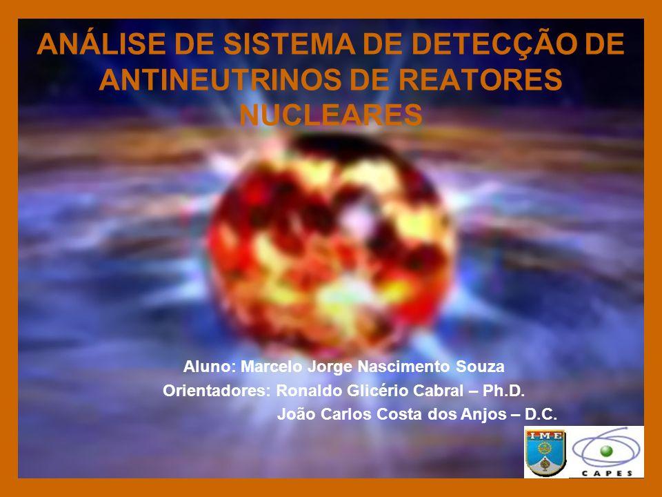 ANÁLISE DE SISTEMA DE DETECÇÃO DE ANTINEUTRINOS DE REATORES NUCLEARES