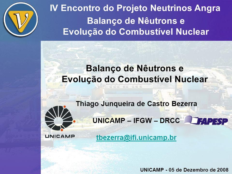 IV Encontro do Projeto Neutrinos Angra Balanço de Nêutrons e