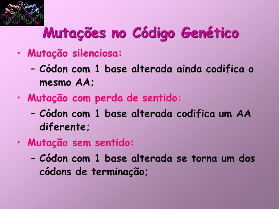 Mutações no Código Genético
