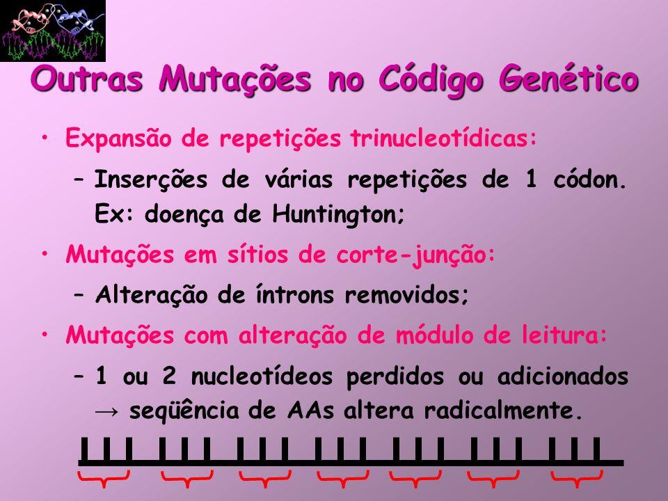 Outras Mutações no Código Genético