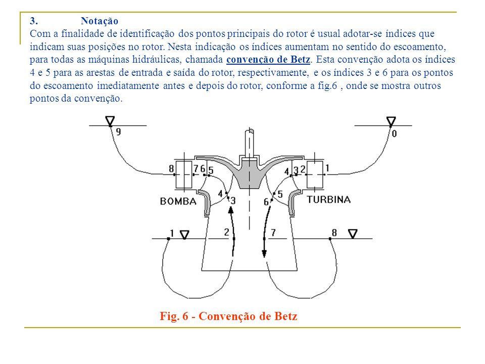 Fig. 6 - Convenção de Betz 3. Notação