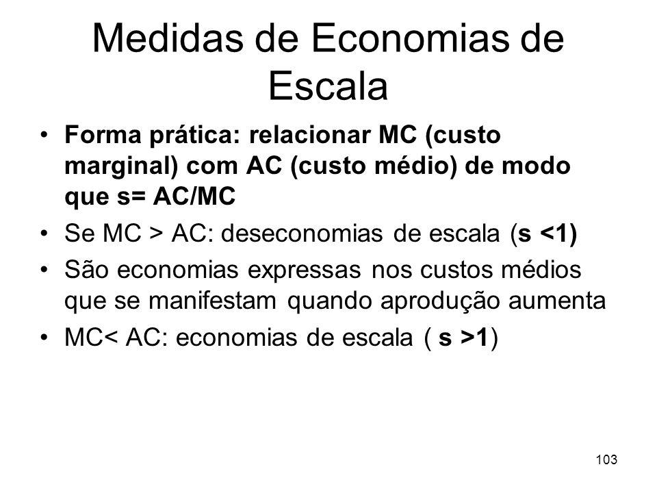 Medidas de Economias de Escala