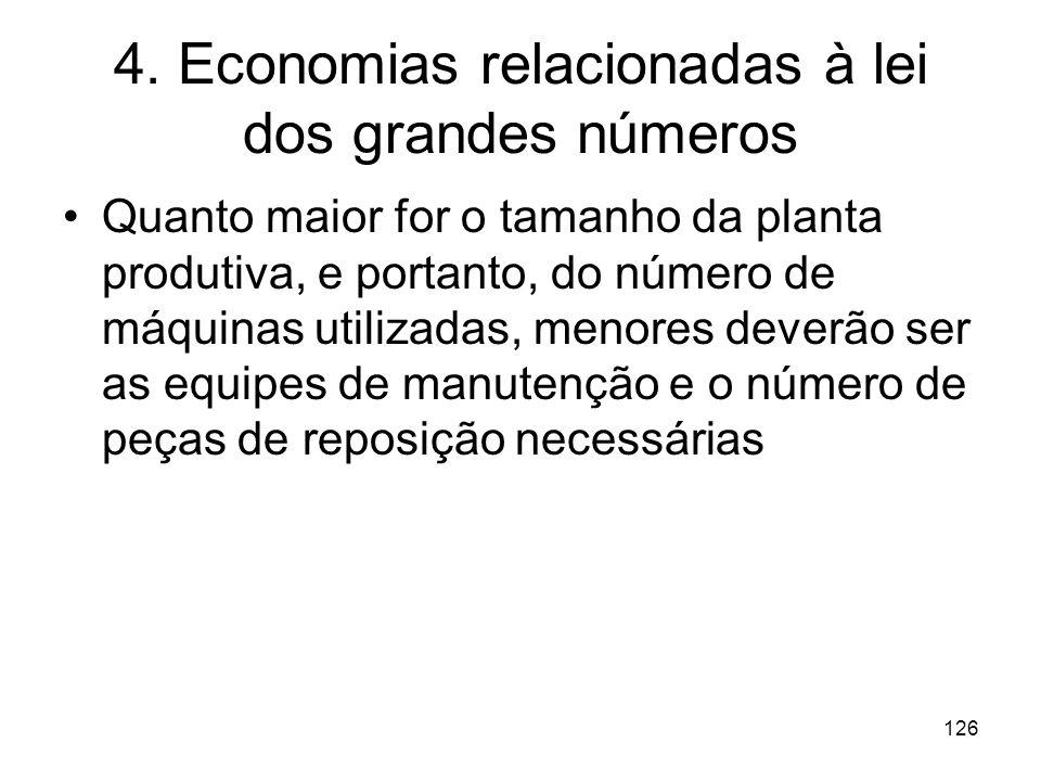4. Economias relacionadas à lei dos grandes números