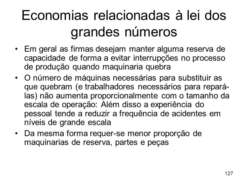 Economias relacionadas à lei dos grandes números