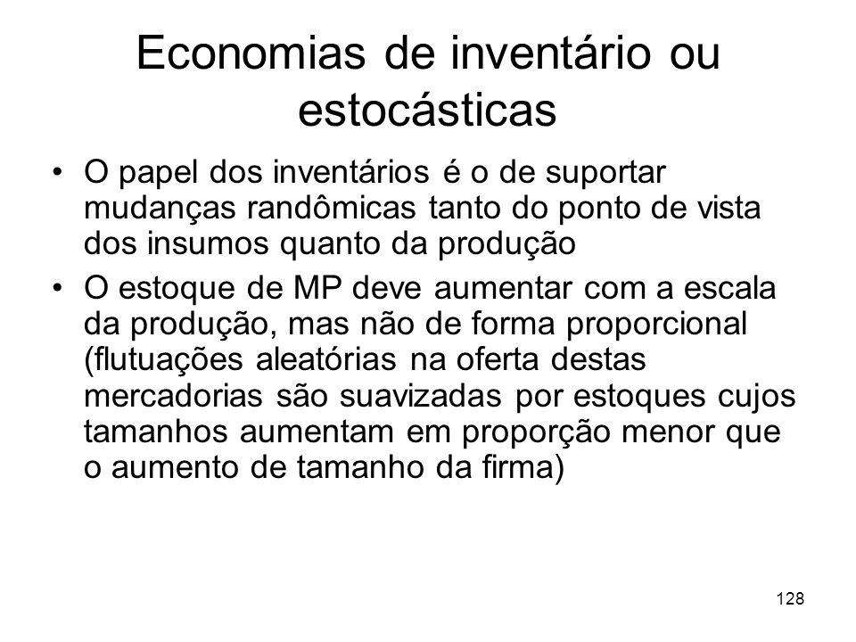 Economias de inventário ou estocásticas