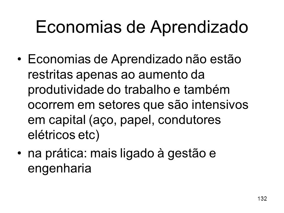 Economias de Aprendizado