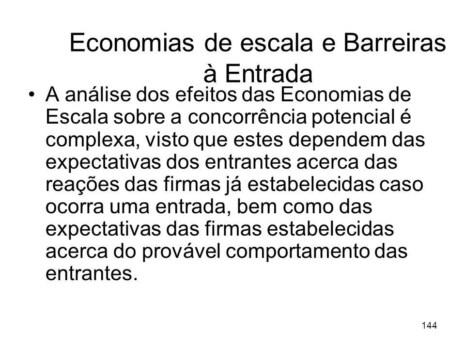 Economias de escala e Barreiras à Entrada
