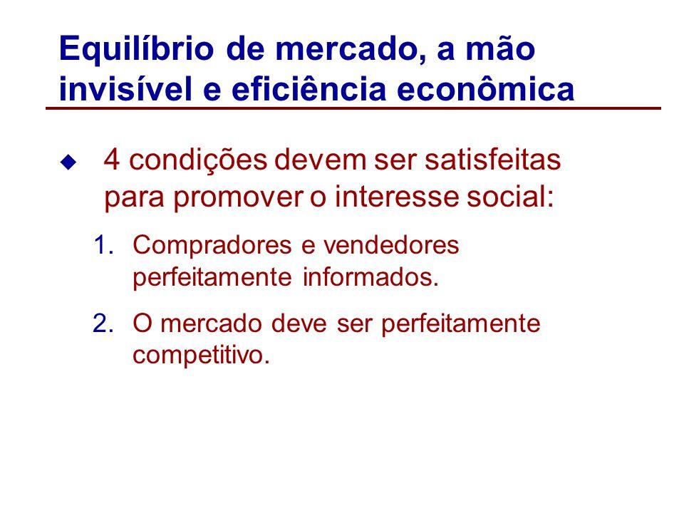 Equilíbrio de mercado, a mão invisível e eficiência econômica