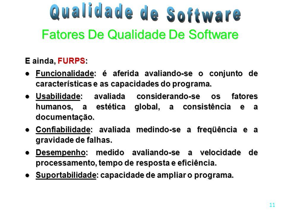 Fatores De Qualidade De Software