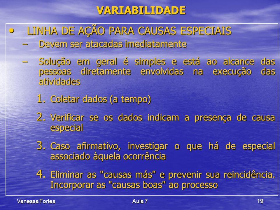 LINHA DE AÇÃO PARA CAUSAS ESPECIAIS