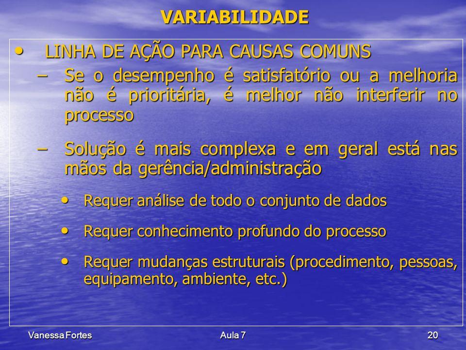 LINHA DE AÇÃO PARA CAUSAS COMUNS