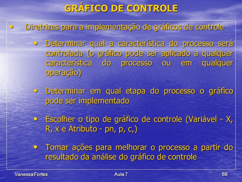 GRÁFICO DE CONTROLE Diretrizes para a implementação de gráficos de controle.
