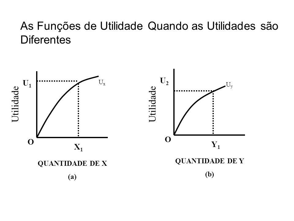 As Funções de Utilidade Quando as Utilidades são Diferentes