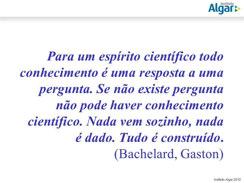 Para um espírito científico todo conhecimento é uma resposta a uma pergunta.