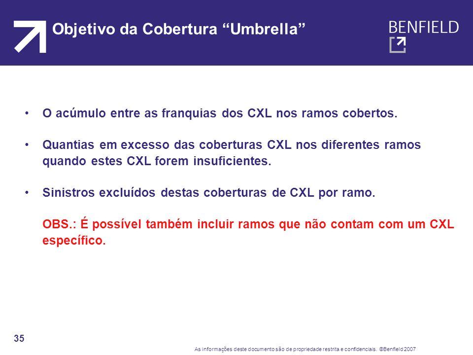 Objetivo da Cobertura Umbrella
