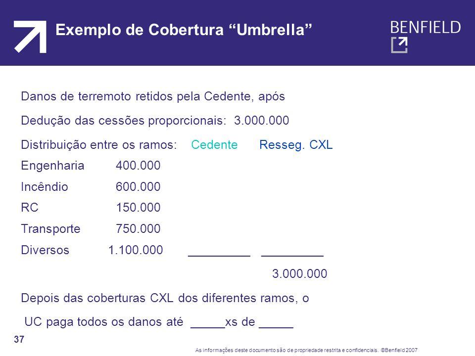 Exemplo de Cobertura Umbrella