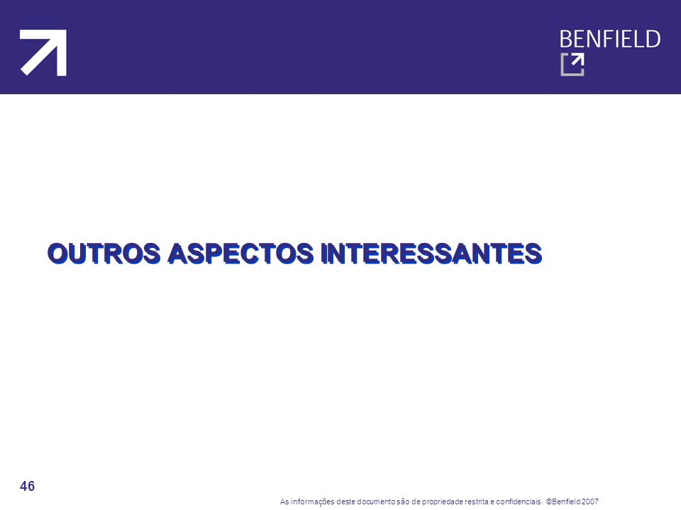 OUTROS ASPECTOS INTERESSANTES