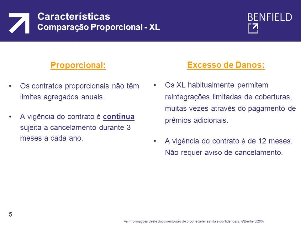 Características Comparação Proporcional - XL