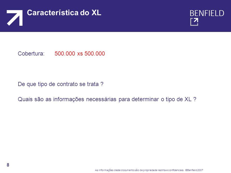 Característica do XL Cobertura: 500.000 xs 500.000