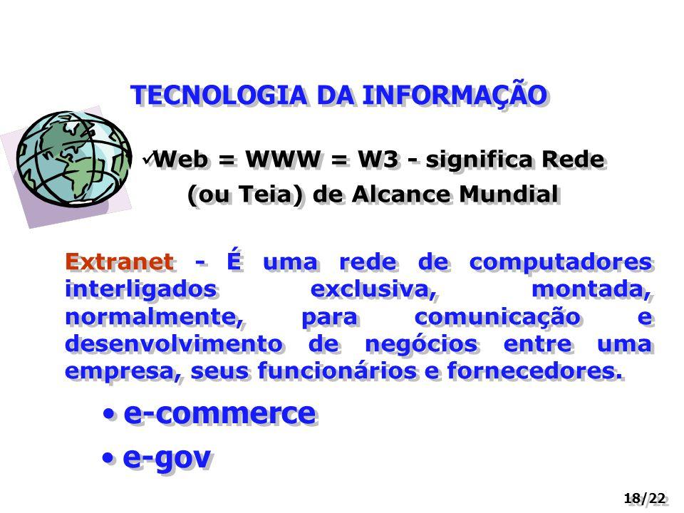 e-commerce e-gov TECNOLOGIA DA INFORMAÇÃO