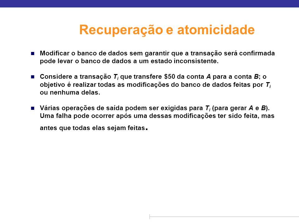 Recuperação e atomicidade