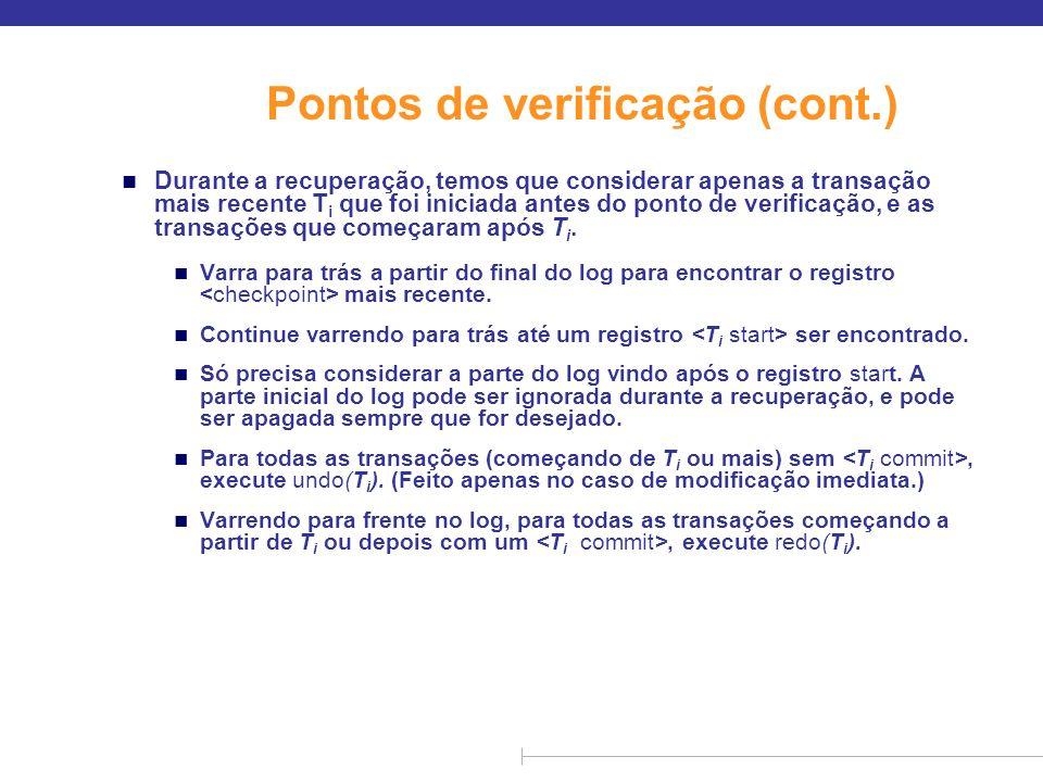 Pontos de verificação (cont.)