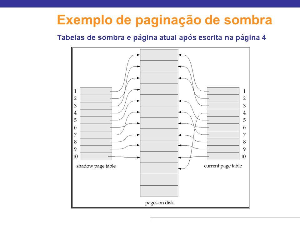 Exemplo de paginação de sombra
