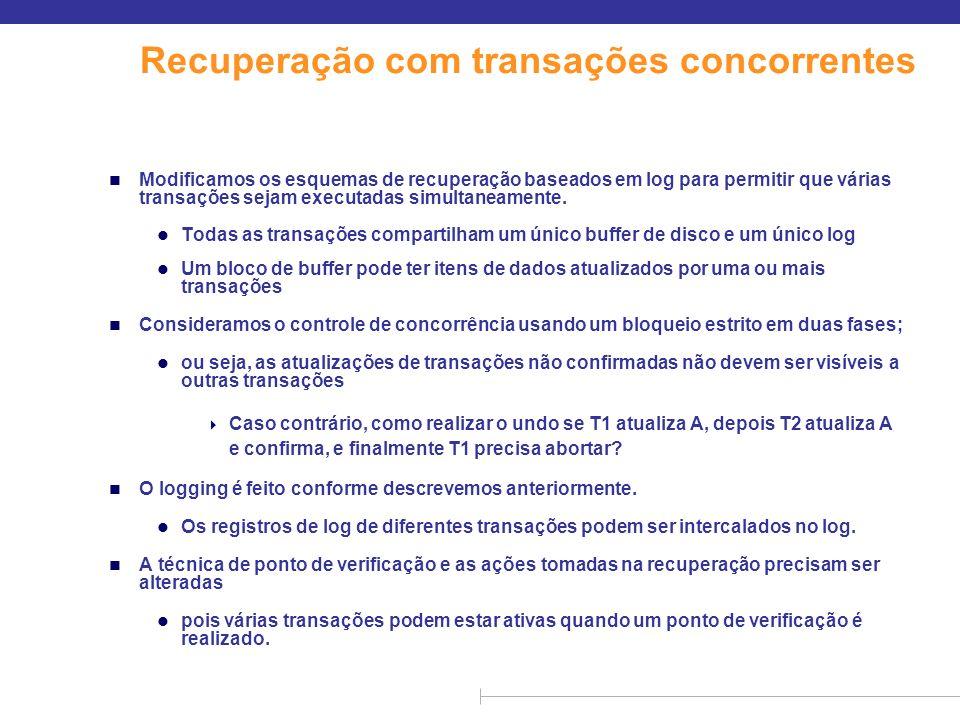 Recuperação com transações concorrentes