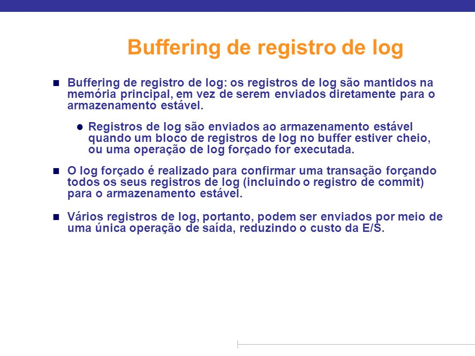 Buffering de registro de log