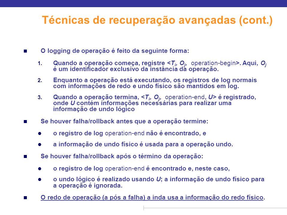 Técnicas de recuperação avançadas (cont.)