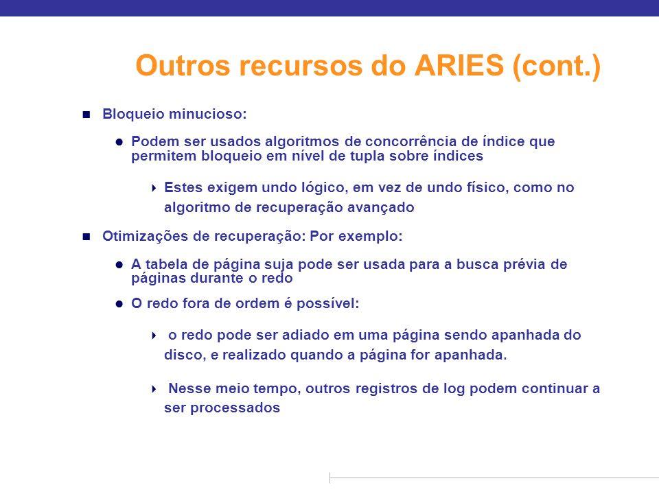 Outros recursos do ARIES (cont.)