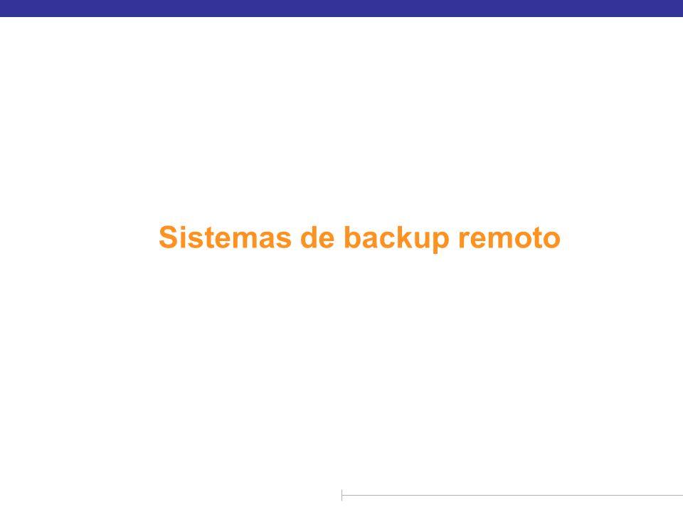Sistemas de backup remoto