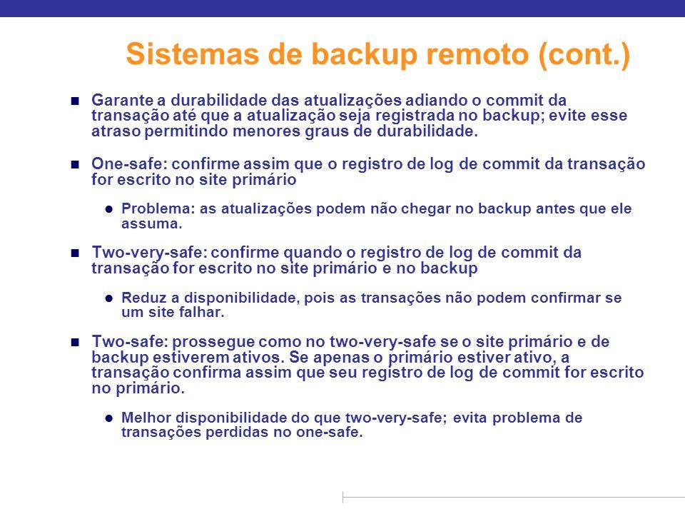 Sistemas de backup remoto (cont.)
