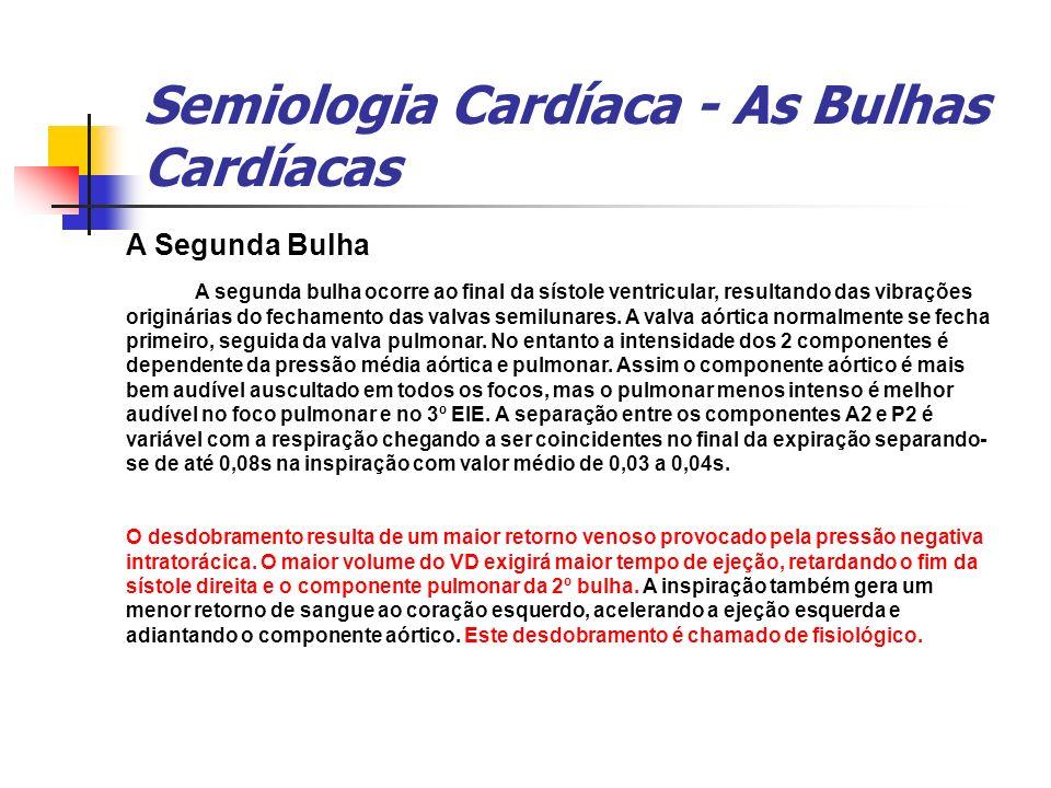 Semiologia Cardíaca - As Bulhas Cardíacas