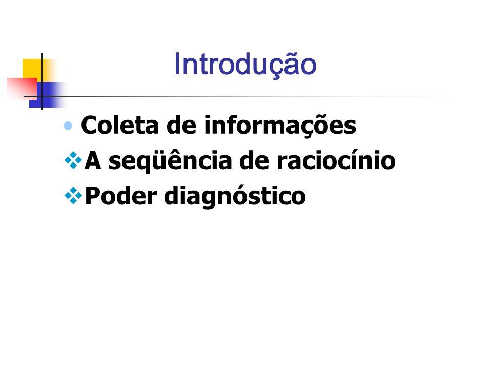 Introdução Coleta de informações A seqüência de raciocínio