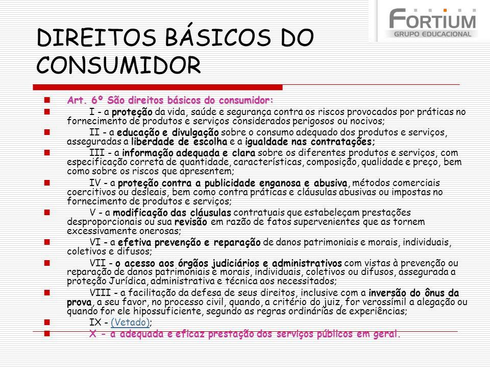 DIREITOS BÁSICOS DO CONSUMIDOR
