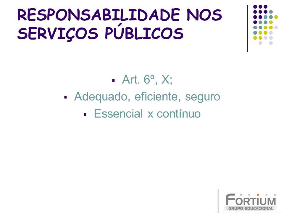 RESPONSABILIDADE NOS SERVIÇOS PÚBLICOS