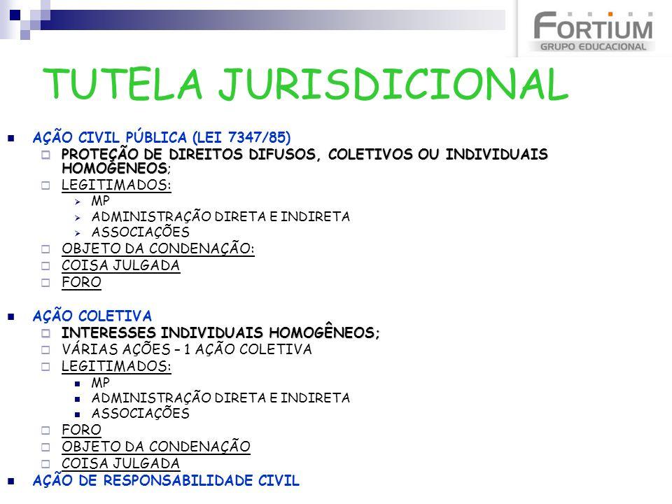 TUTELA JURISDICIONAL AÇÃO CIVIL PÚBLICA (LEI 7347/85)