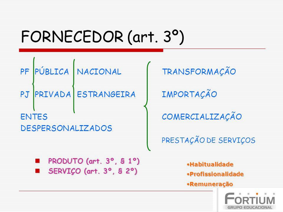 FORNECEDOR (art. 3º) PF PÚBLICA NACIONAL TRANSFORMAÇÃO