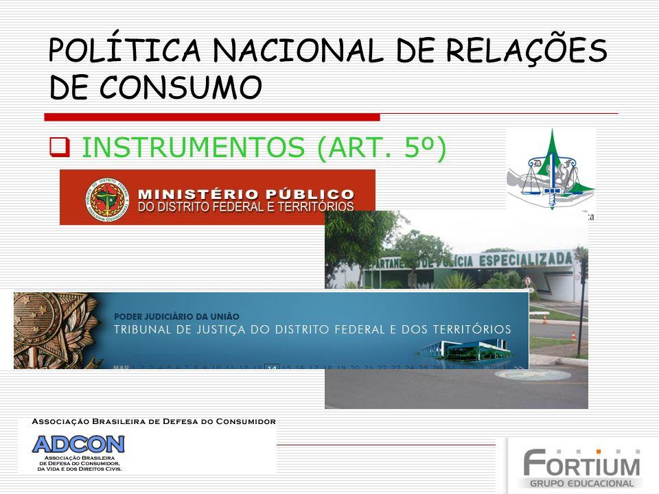 POLÍTICA NACIONAL DE RELAÇÕES DE CONSUMO