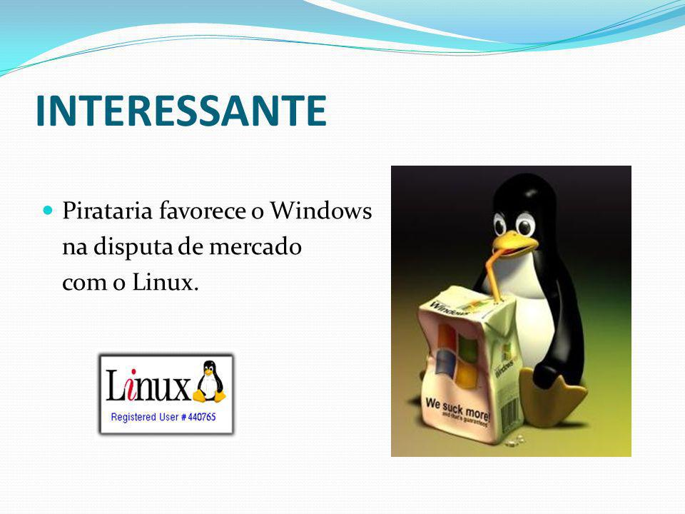 INTERESSANTE Pirataria favorece o Windows na disputa de mercado