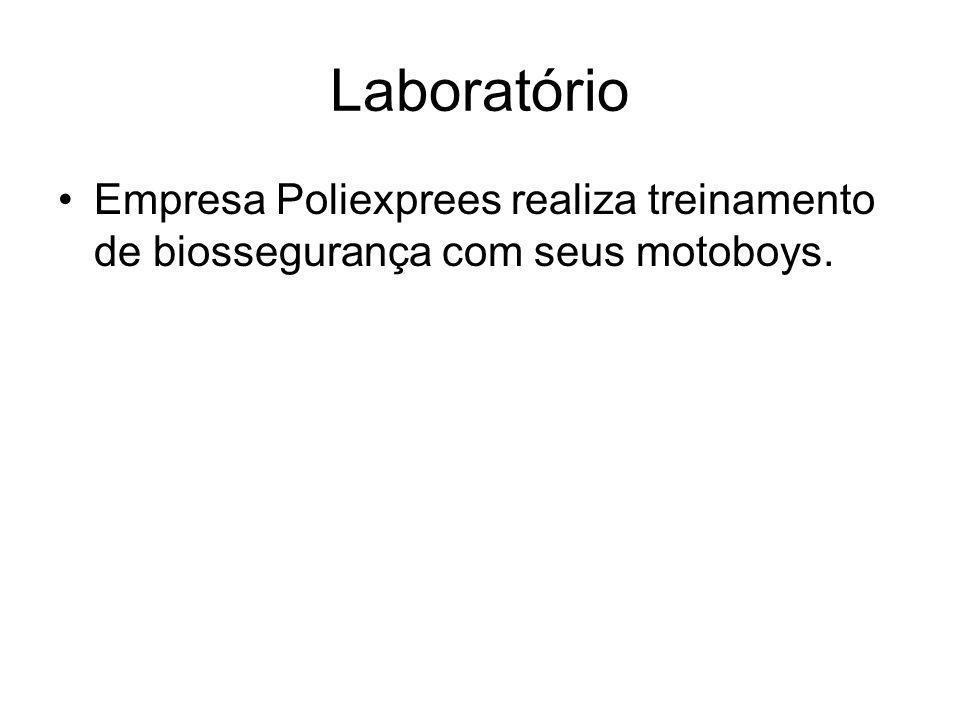 Laboratório Empresa Poliexprees realiza treinamento de biossegurança com seus motoboys.
