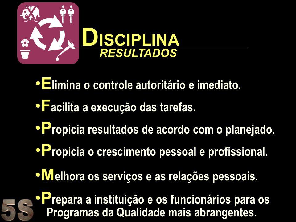DISCIPLINA Elimina o controle autoritário e imediato.