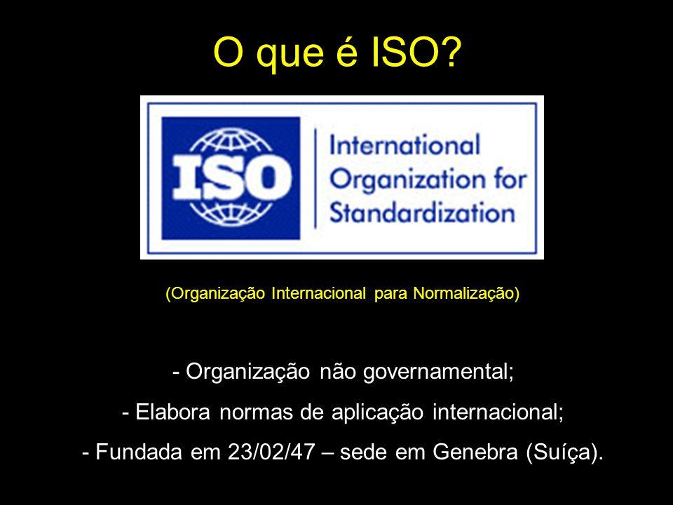 O que é ISO - Organização não governamental;