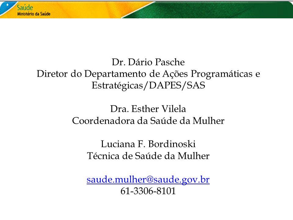 Coordenadora da Saúde da Mulher Luciana F. Bordinoski
