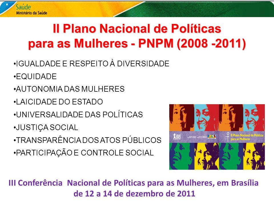II Plano Nacional de Políticas para as Mulheres - PNPM (2008 -2011)