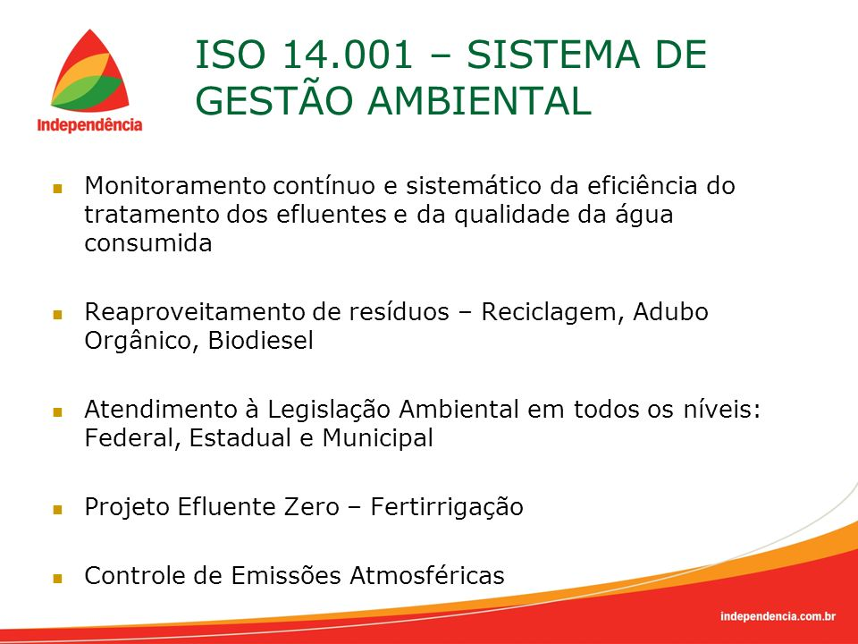 ISO 14.001 – SISTEMA DE GESTÃO AMBIENTAL