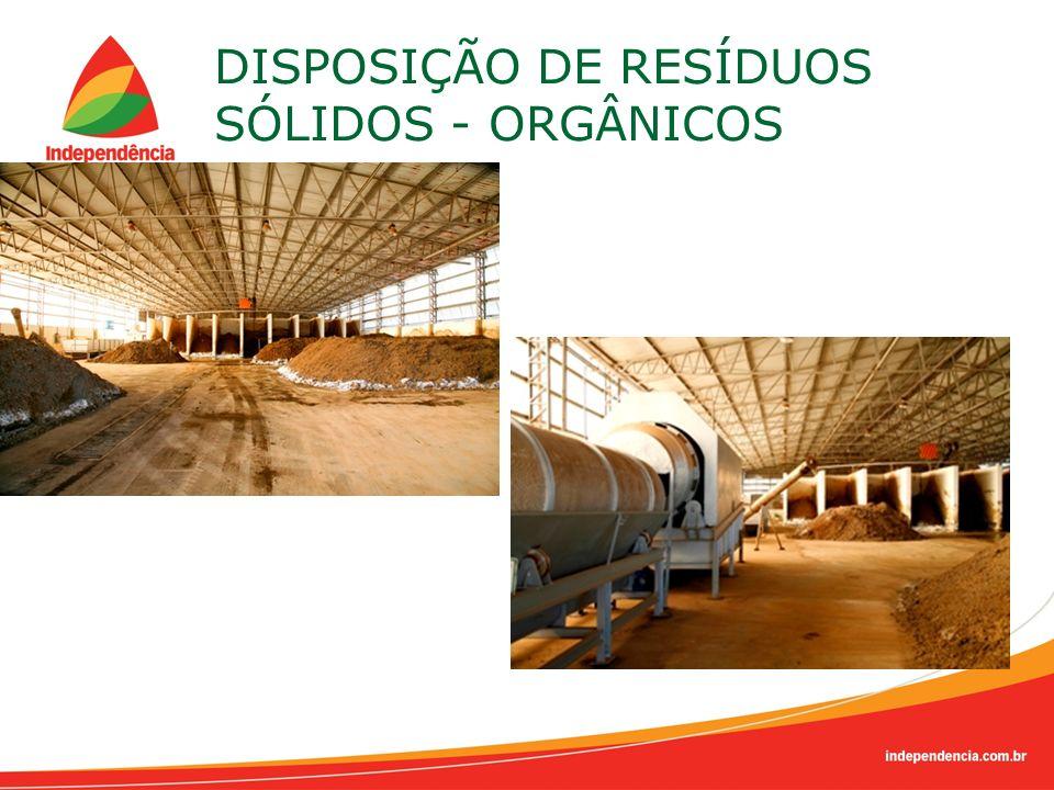 DISPOSIÇÃO DE RESÍDUOS SÓLIDOS - ORGÂNICOS