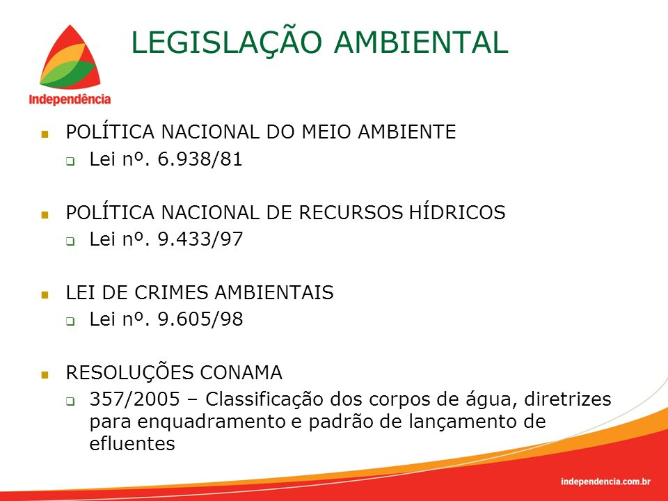 LEGISLAÇÃO AMBIENTAL POLÍTICA NACIONAL DO MEIO AMBIENTE